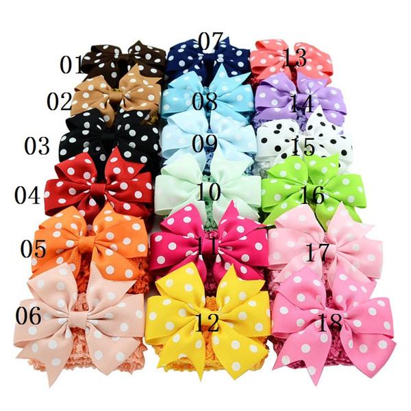 Dot Bow Bubble Baby Hair Band Handmade Children Hair Band Elastic Dual-use Bow Hairpin Girl Kids bow Hair Band LYU20