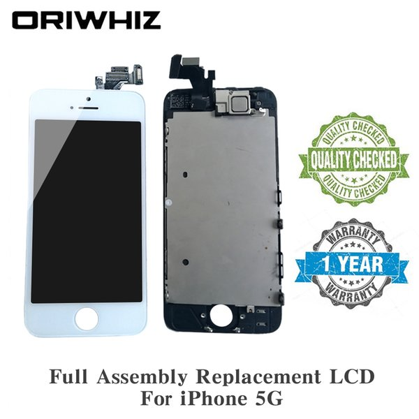ORIWHIZ Discount For iPhone 5C LCD Screen Assembly Display Replacement Touch Digitizer without Home Button with Front Camera Ear Speaker