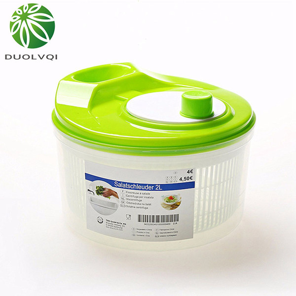 Duolvqi Vegetables Dryer Salad Spinner Fruits Basket Fruit Wash Clean Basket Storage Washer Drying Machine Useful Kitchen Tools