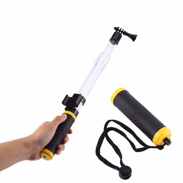 Freeshipping Selfie Sticks for Durable Extension Handheld EVO Float Floaty Monopod Gopole with Remote Clip Mount For Gopro 4/3+