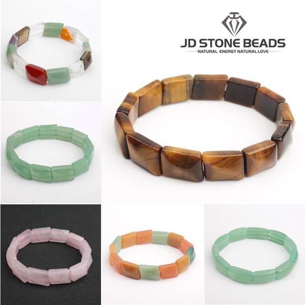 Natural yellow tiger eyes stone bracelet bangle green aventurine jewelry quartz hand string for gift JD stone bead free shipping