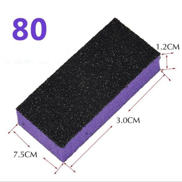 100 pcs random colour nail buffer block sponge block disposable nail file 80/120 buffer file manicure tool