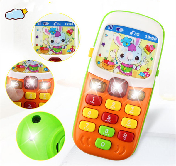 Music Educational toys Cellphone with LED Baby Kid Eearly Educational phone English Learning Chrismtas Xmas Halloween Gifts Carton box packs