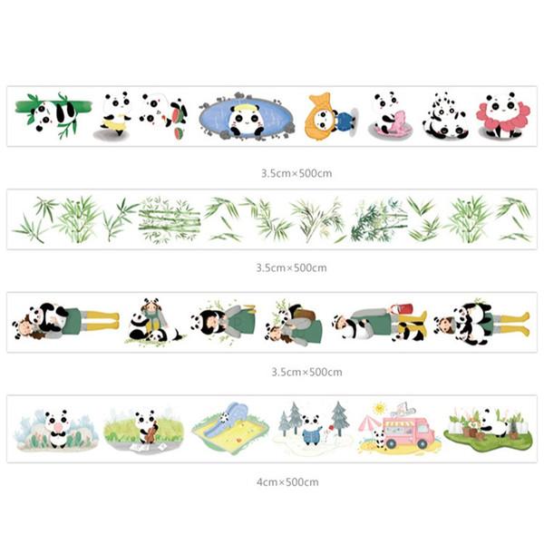 12 Pcs / Lot Chinois Panda Zoo Papier Washi Bandes Décoration Bande Autocollants Scrapbooking Enfants Cadeau Papeterie Fournitures Scolaires 2016