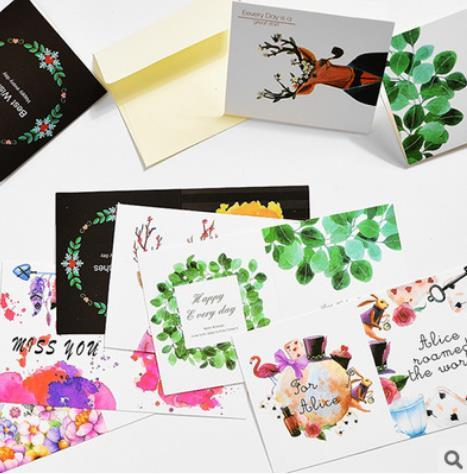 new year,Hollowed-out, paper, small cards, creativity, individuality, simplicity, birthday thank you cards, messages, holiday wishe