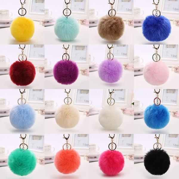 customized 8 cm fur furry ball pendant imitation rabbit hair female baoqingguan fox fur plush pendant