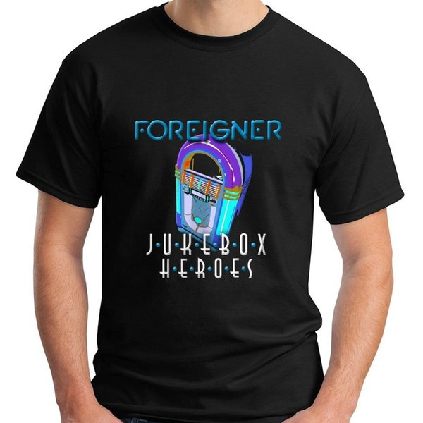 Streetwear Funny Print Clothing Hip-Tope Mans Tops Tees Novelty Foreigner Jukebox Heroes Size S-4Xl Crew Neck Short-Sleeve Mens