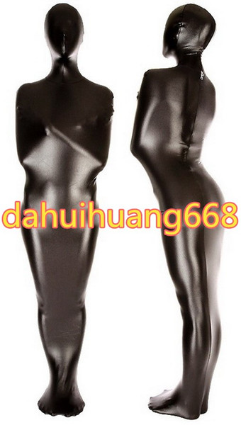 Black Shiny Metallic Mummy Suit Costumes Sleeping Bags Unisex Mummy Costumes Sleeping Bags Outfit Halloween Party Cosplay Costumes DH116