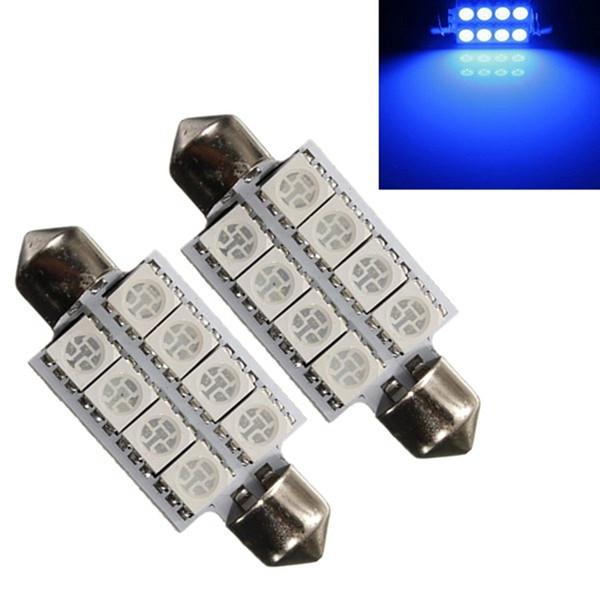 Ultra Azul 42 MM 5050 8SMD Bombilla LED Auto C5W Cúpula Interior Adorno Lámpara de Lectura de Mapa de Luz de Lámpara de Puerta DC12V AAA994