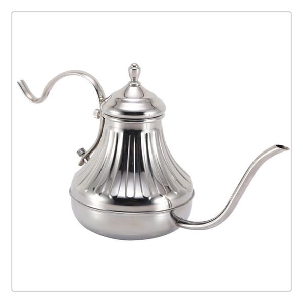 Kahve Çay Potu Paslanmaz Çelik El Damla kahve su ısıtıcısı ergonomik tasarım kolu ile Pratik Aşırı