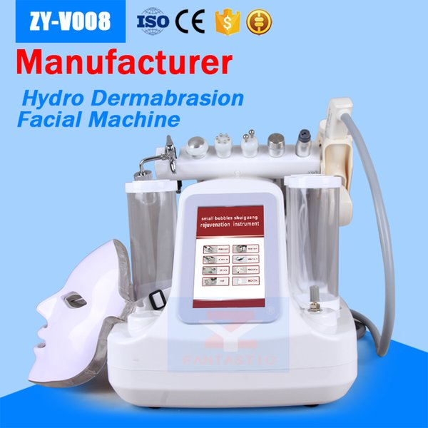 best selling Hydra Dermabrasion Machine 8 in 1 With Ultrasonic RF BIO Cooling Oxygen Jet Microdermabrasion PDT Light Mask Mesotherapy HydraFacial Machine