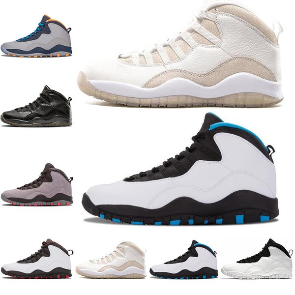 Jordan Männer Cool Air Schuhe Ovo Weiß Nike Powder Chicago Atmungsaktive 10s Stahl 10 Großhandel Retro Rotluchse Grau Schwarz Blue Grau Basketball n80OPkXw