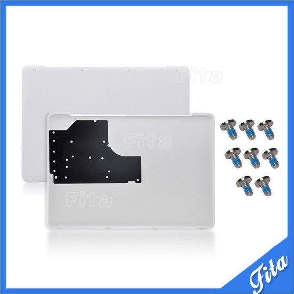 "New A1342 White Lower Bottom Case Cover With Bottom Screws for MacBook A1342 13"" Unibody 604-1033 2009 2010 MC207 MC516 LL/A"