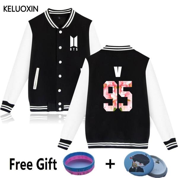 KELUOXIN Bomber Giacche Donna Casual Giacche da baseball Kpop BTS BON VOYAGE Season2 Album Nome membro Felpe con cappuccio stampate S18101008