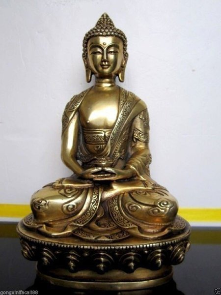 Tibet tibetische Buddhist Amitabha Bronze Buddha-Statue