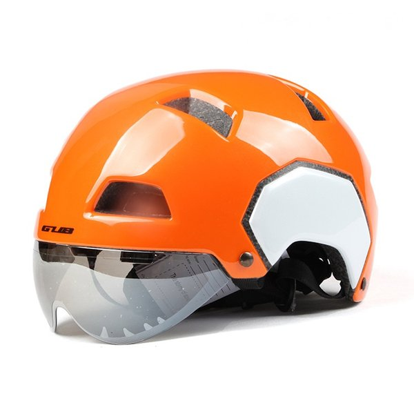 Super Light Bicycle Helmet Personality Half Helmet Men Women Ventilation Breathable Safety Bike with Lens