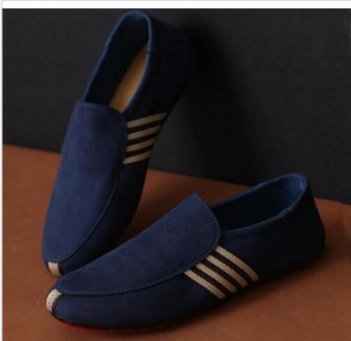 Nouveau Chaussures de bateau pour hommes en toile de pont Confort Mocassins Casual Casual Mocassins Slip on Driving