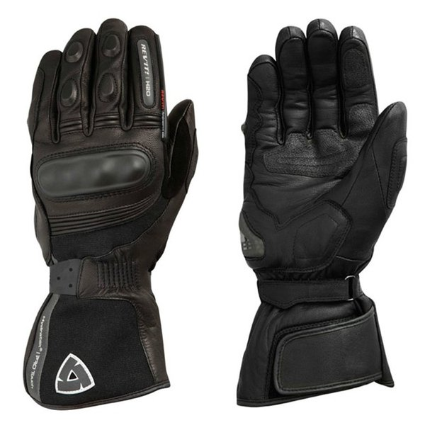 REVIT Waterproof H2O Gloves Motorcycle Cycling Riding Winter Warm Genuine Leather Long Gloves Black