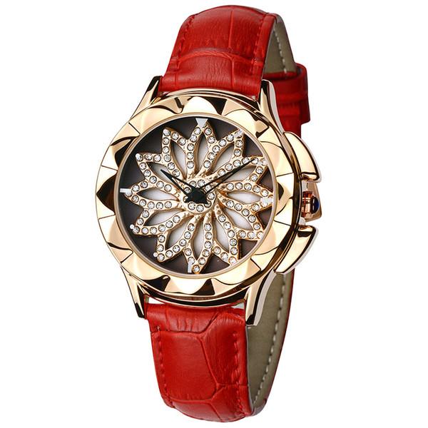Loadr Fashion Crystal Women Wathes Stainless Steel Round Dial Metal Strap Band Quartz Ladies Bracelet Watch Dress Clock Relogio