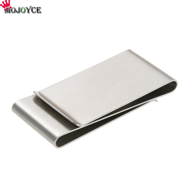 metal money clip wallet MOJOYCE Drop Shipping High Quality Practical Multifunction Stainless Steel Card Folder Money Clips Metal Wallet