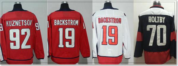 Mens Washington #19 Nicklas Backstrom 70 Braden Holtby 92 Evgeny Kuznetsov Stadium Series Ice Hockey Shirts Team Jerseys Stitched Embroidery