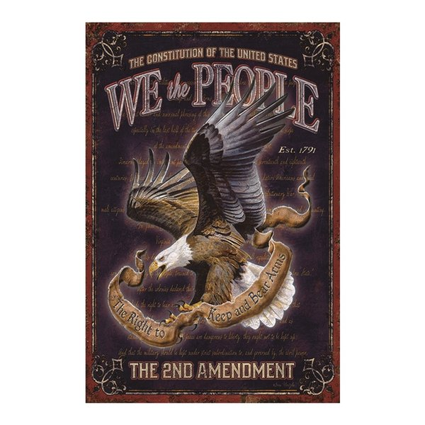 WE THE PEOPLE the right to keep and bear arms vintage tin sign home Bar Pub Hotel Restaurant Coffee Shop home Decorative Retro Metal Poster