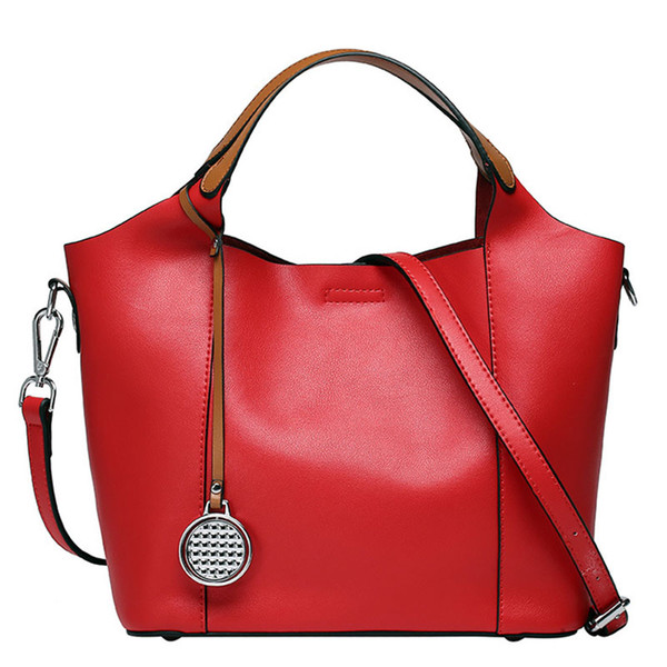 New Fashion Genuine Leather Handbag Women bags Soft Cowhide Tudor Casual Tote Crossbody bag Women's Messenger Shoulder bags 2018