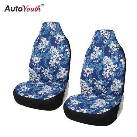 Hawaiian Car Seat Covers >> Car Bucket Seat Covers Blue Hawaiian Print Cotton Car Accessories Universal Fit Front Seat Covers Protectors Autoyouth Car Seat Covers For Trucks Car