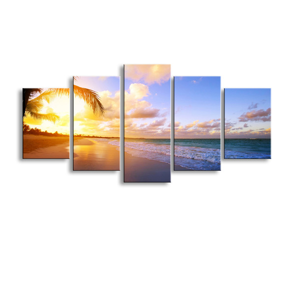5 pieces high-definition print landscape canvas painting poster and wall art living room picture PL5-244