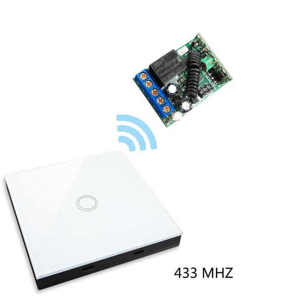 Vhome Smart Home Wireless RF 433MHZ Panneau de commutation Forme Télécommande + Récepteur pour commutateurs tactiles, portes de garage, rideaux électriques