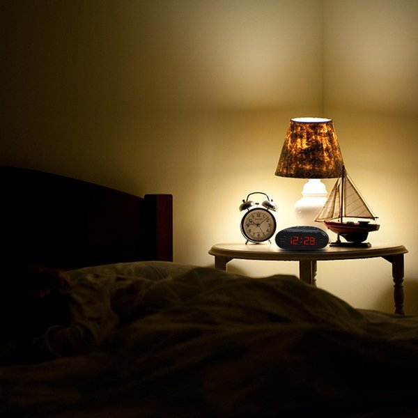 LED Alarm Clock Radio Digital AM FM Radio Red With EU Plug Home Multi Function Fashion LED Alarm Clock