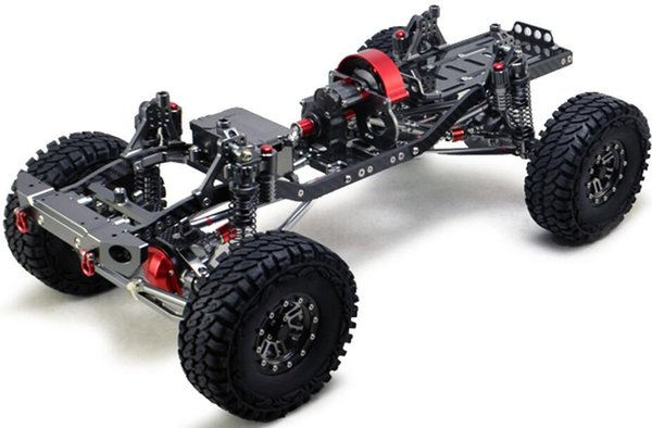 CNC Aluminum Metal And Carbon Frame For RC Car 1/10 AXIAL SCX10 Chassis  313mm Wheelbase Vehicle Crawler Cars Parts Remote Controlled Vehicle Rtr Rc