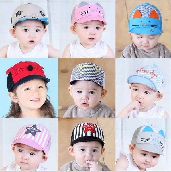 3 pcs bebê menina bonito da orelha de canto boné de beisebol criança rebote verão ajustável chapéu de sol criança hip hop chapéu
