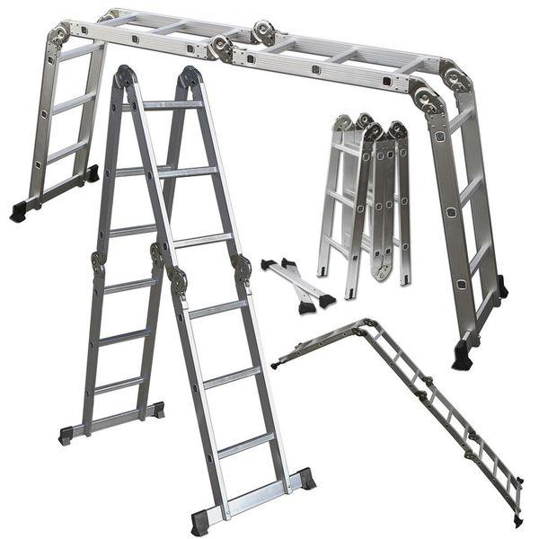12 5ft en131 330lb multi purpo e tep platform aluminum folding caffold ladder