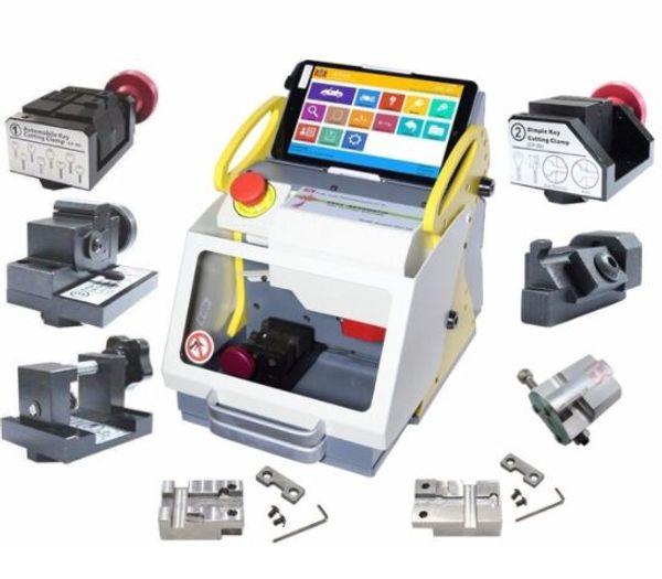 New Diagnostic Tools SEC E9 Full Clamps CNC Automatic Key Cutting Machine For Car Keys & House Keys Better Than Slica I80 Key Machine