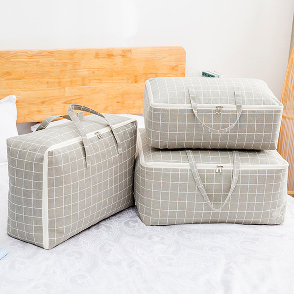 Quilt Storage Bags Home Dust Covers Clothing Bedding Wardrobe Clothes Storing Save Space Quilt Bag Closet Storage Box