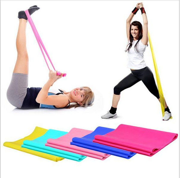 top popular 1.2m 1.5m 1.8m Elastic Yoga Pilates Rubber Stretch Exercise Band Arm Back Leg Fitness All thickness 0.35mm same resistance c029 2020
