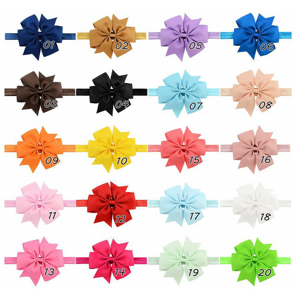 20pcs/lot 7 inchs(11CM)Baby Ribbon Bow Headband Bowknot Headbands Hair bands Hair Ties Hair Accessories