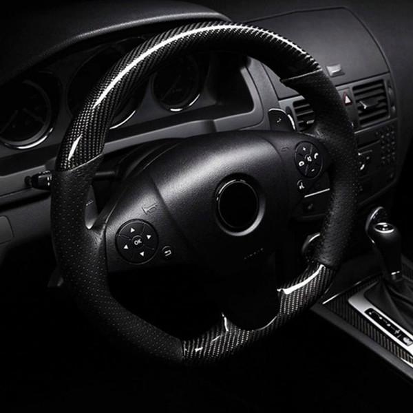 Car Styling 152 * 30 cm Haute Brillance 5D Noir Fiber De Carbone Vinyle Film Fibre De Carbone Voiture Wrap Feuille Rouleau Film outils De Voiture Autocollant Decal