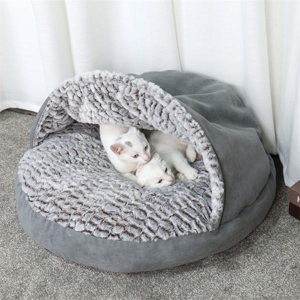 Animaux Chaud Doux Sac Chaud Chat Lit Maison Pantoufle Conception Lit Pet Canapé Canapé Pour Chats Chiens Animaux Panier Kennel Tente Maison Livraison Gratuite