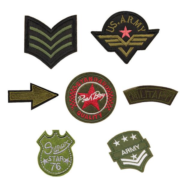 7 Patch Ricamo USA Army Military Bracciale Medaglia Cucire Ferro Sul Ricamato Distintivi Per Borsa Jeans Cappello T Shirt Appliques FAI DA TE Decorazione del Mestiere