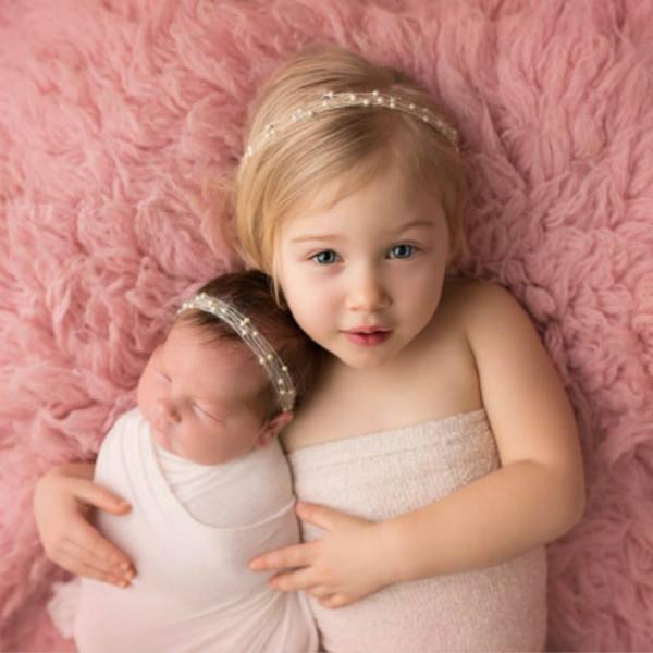 Großhandel Baby Stirnband Kurz Perle 9 Farben Boutique Haar Zusätze Wie Fotografie Props Mädchen Haar Bänder Geburtstags Geschenke Für Kinder X081 Von