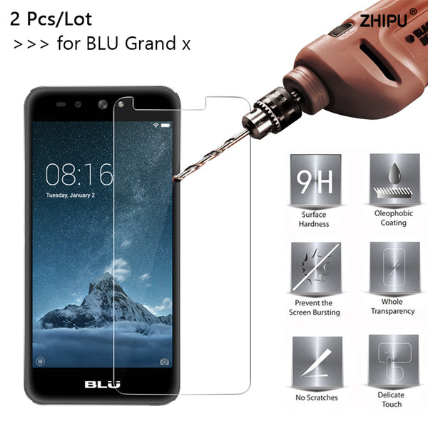 2 Pcs/Lot 2.5D 0.26mm 9H Tempered Glass For BLU Grand X Screen Protector protective film For BLU Grand X 5.0 inch