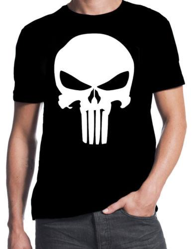 2018 Summer T Shirt The Punisher Inspired Classic Skull Logo Comic Book Action Movie New T Shirt O Neck T Shirt