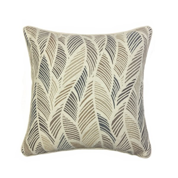 Contemporary Abstract Leaves Cushion