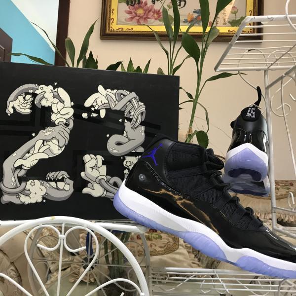 Hohe Qualität 11 Space Jam Basketball Schuhe 11 s Frauen Männer Schwarz Weiß Blau Nummer 45 Outdoor Designer Runner Casual Sport Turnschuhe 5,5-13