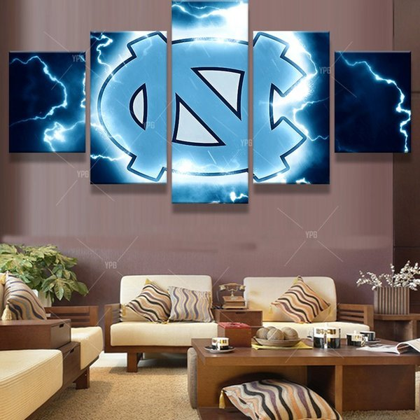 HD Print Canvas Painting Home Decorative 5 Panel Basketball Sport Modular Picture Wall Art Prints Panels Poster For Living Room Y18102209