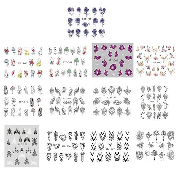Nagel-Kunst-Muster-Tätowierungs-Wasser-Transfer-Aufkleber-Abziehbilder DIY Maniküre-Schönheits-Werkzeug