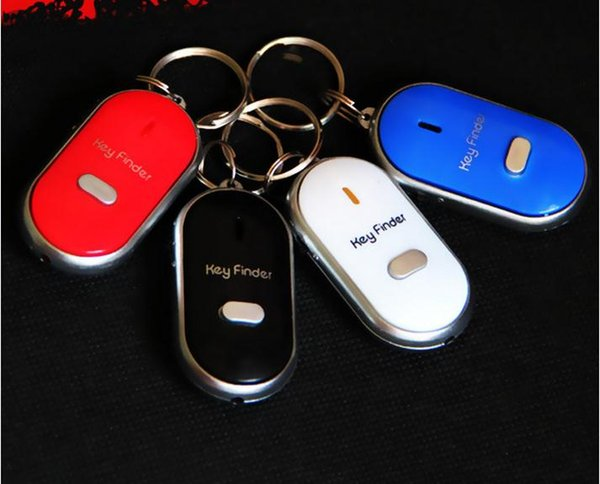 top popular Anti Lost LED Key Finder Locator 4 Colors Voice Sound Whistle Control Locator Keychain Control Torch SN1160 2021