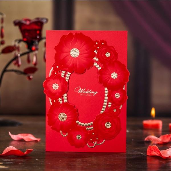 Acheter Élégant Laser Coupé Invitation De Mariage Impression Impressive Stil Des Invitation De Mariage